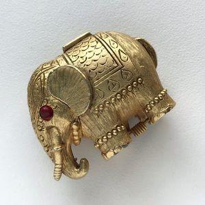 Vintage Elephant Trinket Pill Box Locket